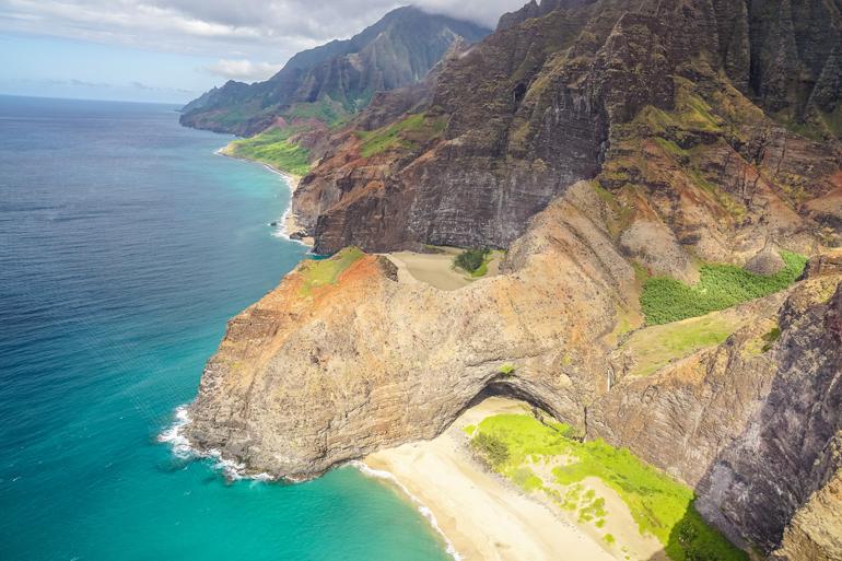 Hawaii: Panoramablick auf Strand und Küste