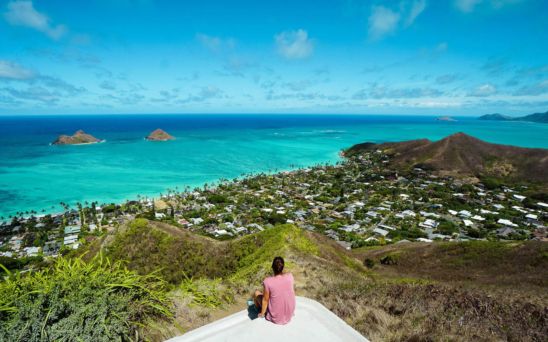 Blick über Hawaii
