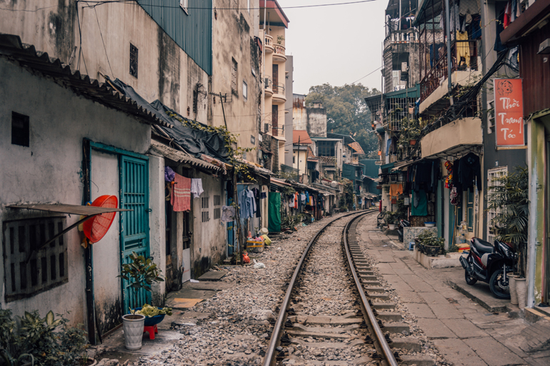 Hanoi, Vietnam: Bahngleise