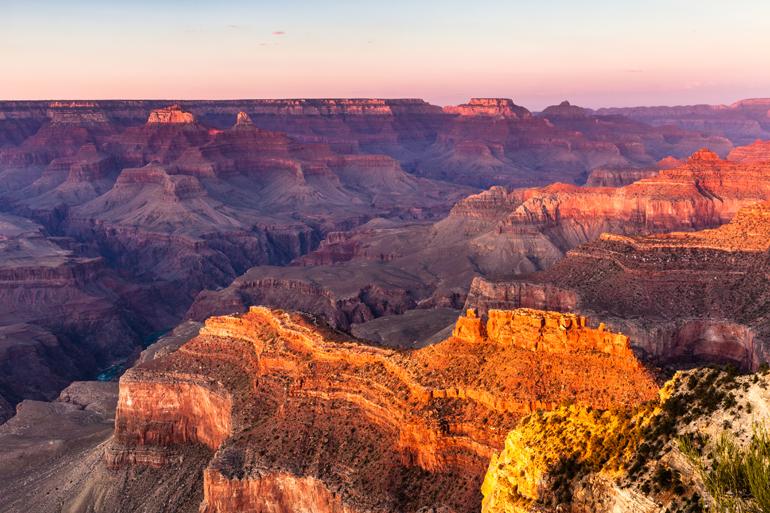 Grand Canyon aus der Vogelperspektive.