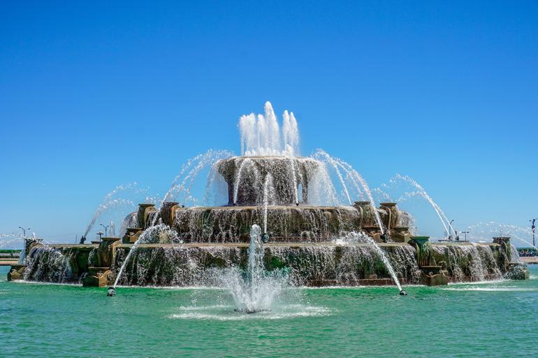 Chicago: Ein großer Springbrunnen.