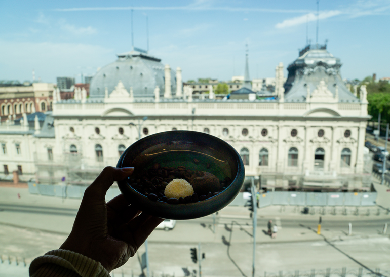 Lodz: Aussicht auf einen Palast