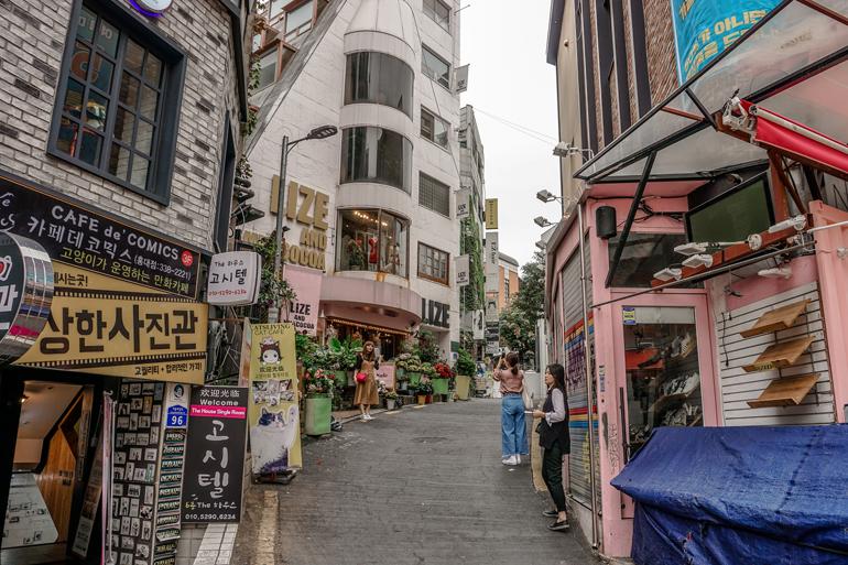Seoul Sehenswürdigkeiten: Ein kleine Gasse in der Stadt.