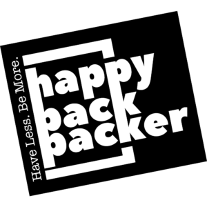 Have less. Be more. Logo happybackpacker Anja Knorr