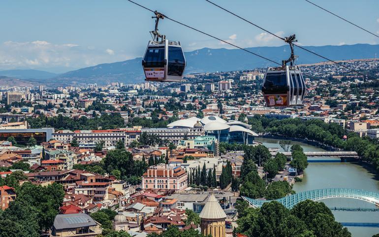 Seilbahn über Tiflis, Georgien