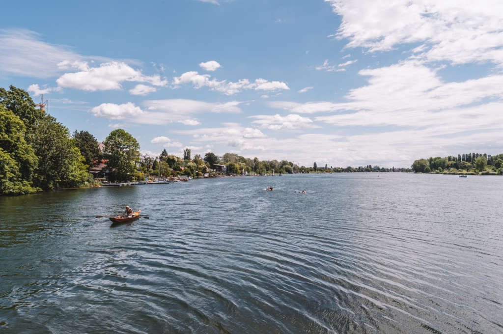 Ein Sommerparadies auch für Wien-Besucher: Die Alte Donau in Wien.