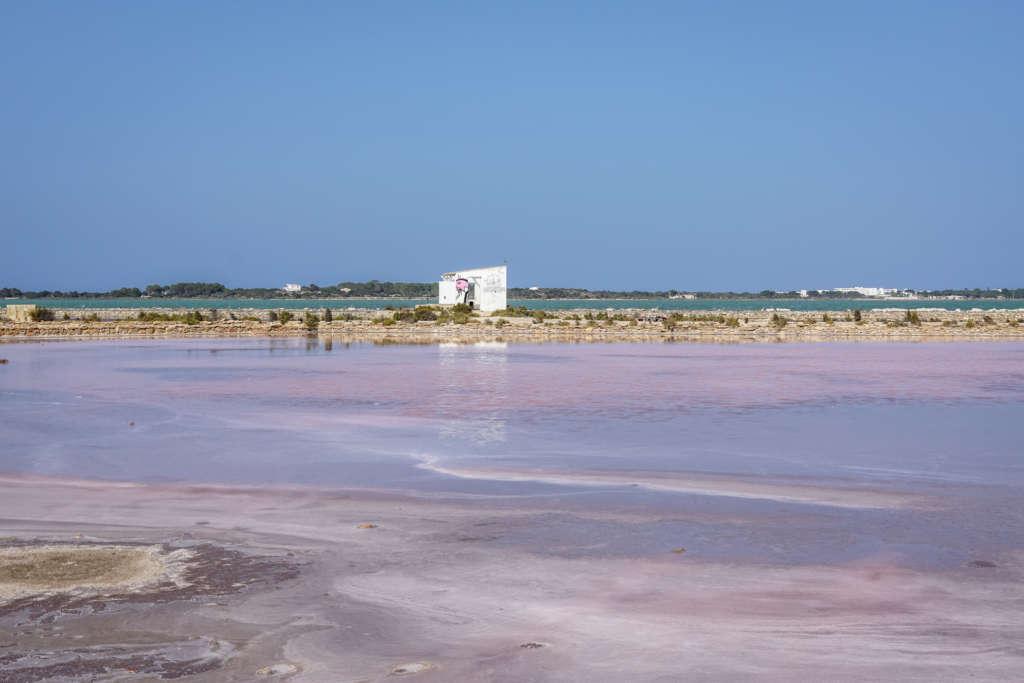 Ein echter Geheimtipp auf Formentera sind die Salinenfelder - das pinke Wasser ist ein Überbleibsel der Salzproduktion.