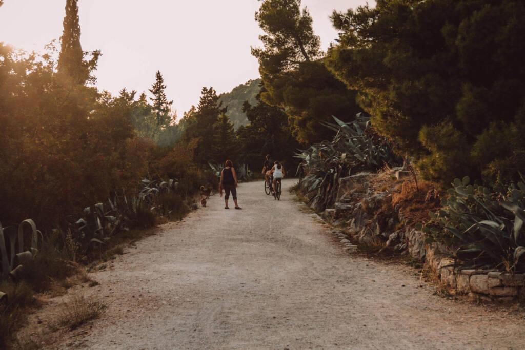 Auf dem Weg den Marjan, den Hausberg von Split, hinauf kann man die Natur genießen.
